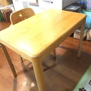 ダイニングテーブル 椅子2脚