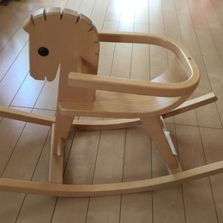 ベビー木製 子供用チェア 木馬 乗れるおもちゃ