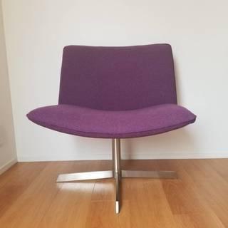 紫の回転椅子 フェルト生地