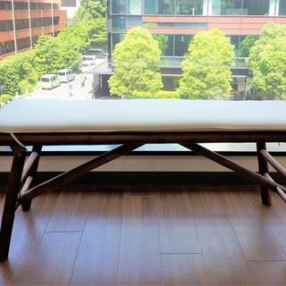 格安!★北欧風デザイン木製ローチェア(クッション付き)