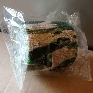 グリーン迷彩柄伸縮性テープ 本体料金値下げ交渉可