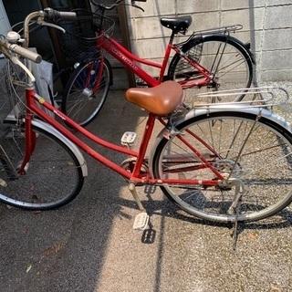 自転車 赤 26インチ 変速付き