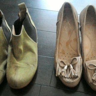 少しジャンク 23cm 靴2点