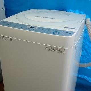 シャープ(SHARP) 洗濯機 ES-GE6B-W 6.0㎏ ホワ...