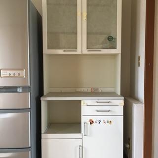 【配送可能】分離式 食器棚 サイズ(約)210×90×45…