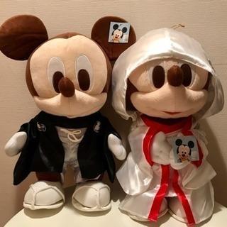新品☆ミッキー&ミニー 和装ウェディングBIGぬいぐるみセット