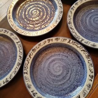 景春窯 26センチ皿 5枚