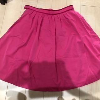 スカート ピンク