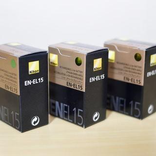 ニコン デジタル一眼バッテリーEN-EL15(旧型)新品