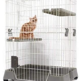 【中古】ゲージ2段 猫、犬、うさぎ、小動物