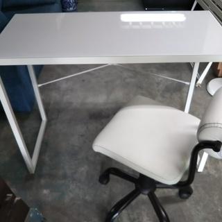 [天板ガラステーブル+椅子]⁑リサイクルショップヘルプ