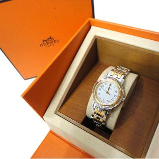 本物 エルメス HERMES 腕時計 CL4 220 クリッパー ...