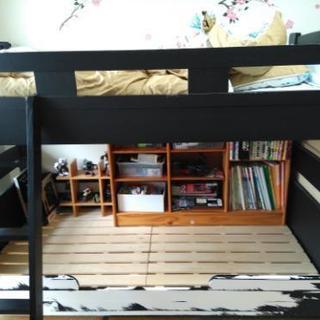 二段ベッド 2段ベット ジュニアサイズ 耐震 取りに来てくださる方限定