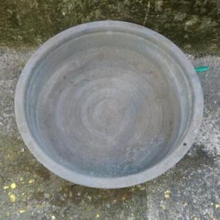 ブリキ タライ 古道具