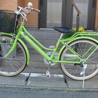 中古自転車  丸石22インチ 女の子用 LEDライト 馬蹄カギ付...