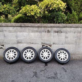 スズキ ラパン純正ホイール タイヤ付き
