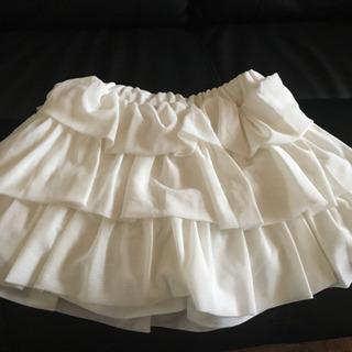 【新品】サイズ:100 白チュールスカート