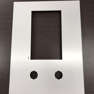 ロビーインターホン・集合玄関機 化粧パネル(パネルのみ)2穴 特...