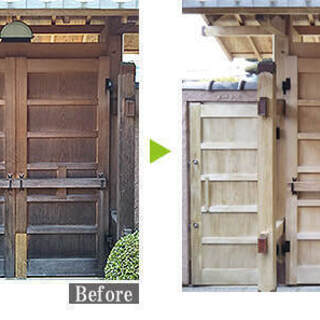 木部のカビ・日焼け・汚れを傷つけることなくキレイに除去し、木部の劣化を保護します! - リフォーム