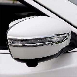 日産 エクストレイル t32 ドアミラー ウインカーメッキトリム...