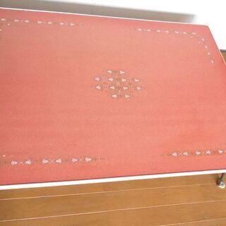● 折り畳み 座卓 ローテーブル 赤 ●