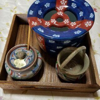 清水焼  薬味入れ ようじ入れ      可愛い茶こぼし