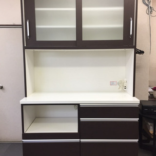【大特価】ニトリ食器棚 幅120.0㎝ ダークブラウン