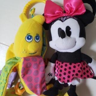 ベビーカー おもちゃ ディズニー ミニー バナナ