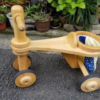 中古品 木製三輪車