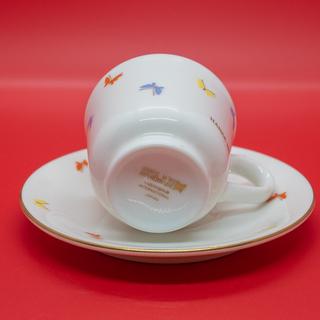 【美品】森英恵(HANAE MORI)デミタスコーヒー カップ&ソーサー(ペア) − 香川県
