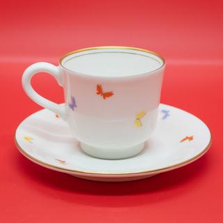 【美品】森英恵(HANAE MORI)デミタスコーヒー カップ&ソーサー(ペア) - 生活雑貨