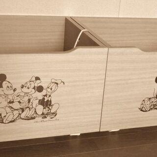 ● ウォルト・ディズニー 収納(2個)キャスター付 おもちゃ 押入...