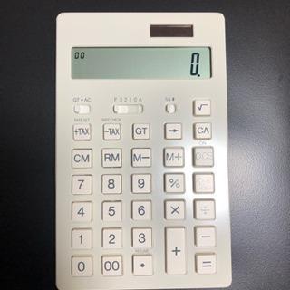 未使用 電卓【無印良品】12桁(白)
