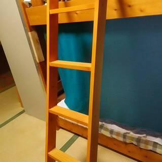 【新品】木製ハシゴ(主にニ段ベッド用)