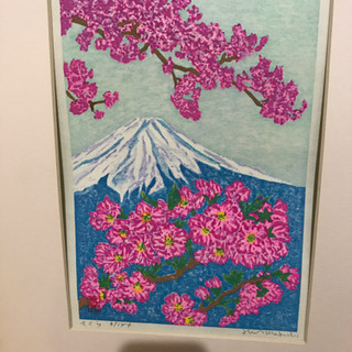 ◀︎◁◀︎ 版画   絵画    桜 ▶︎▷▶︎