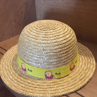 再値下げ 数回使用 プーさん ディズニー むぎわら帽子 約50センチ