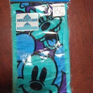 東京ディズニーランドの品物です。フード付きロングタオル、新品、未...