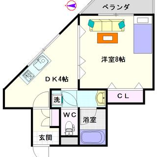 【ビジタル湊町8】C号タイプ!1DKタイプ!保証人も保証会社も不要!!