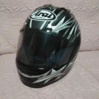 商談中バイク用 ヘルメット黒白