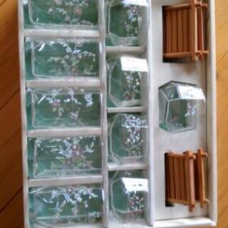 ガラスコップ 10個とコースター