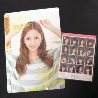 元AKB48 板野友美さん下敷き 選抜16人 メモ帳セット
