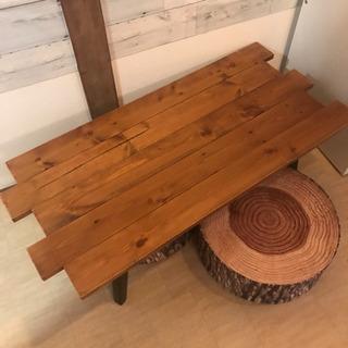 アンティーク 折りたたみローテーブル