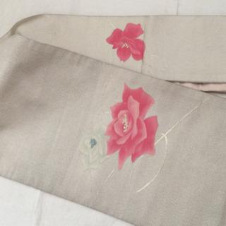 🌻値下げ🌻 名古屋帯  ① 帯 かわいい ピンク 薔✨薇 ばら ...
