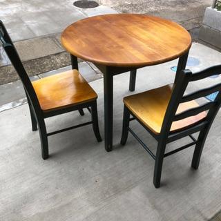 ダイニングテーブル&チィア4脚セット