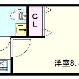 【おおきに夕陽ケ丘サニーアパートメント】3号タイプ!1Kタイプ!シ...