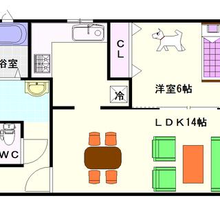 【シェスタイレブン】1号タイプ!1LDKタイプ!間取が使いやすい形...