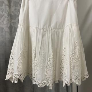 【未使用】コットン レース 白 スカート 夏