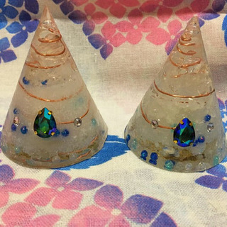 沖縄の塩を使った盛り塩オルゴナイト 青