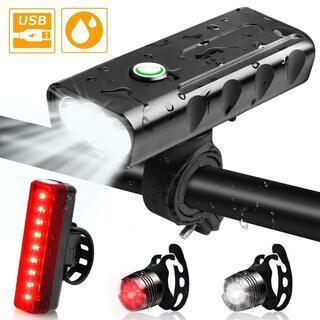 自転車 ライト 防水 USB充電