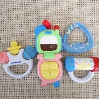ガラガラ おもちゃ 4点セット ミキハウス